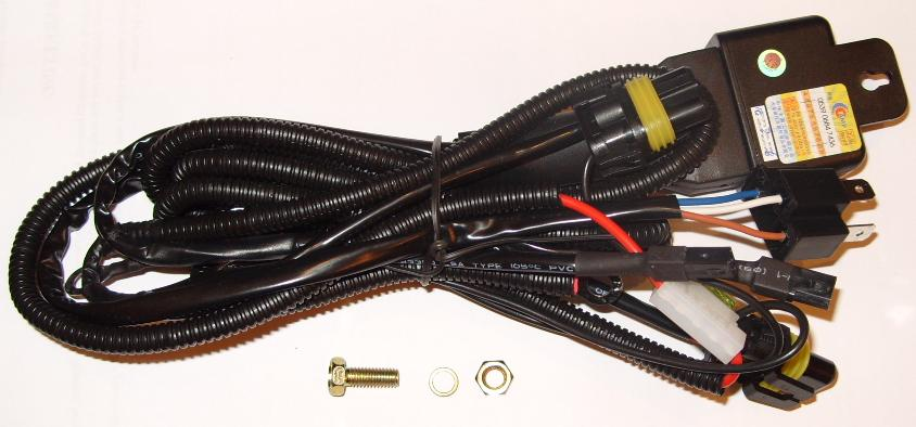 Car Battery Harness : H hi lo hid bi xenon battery loom harness relay wiring ebay