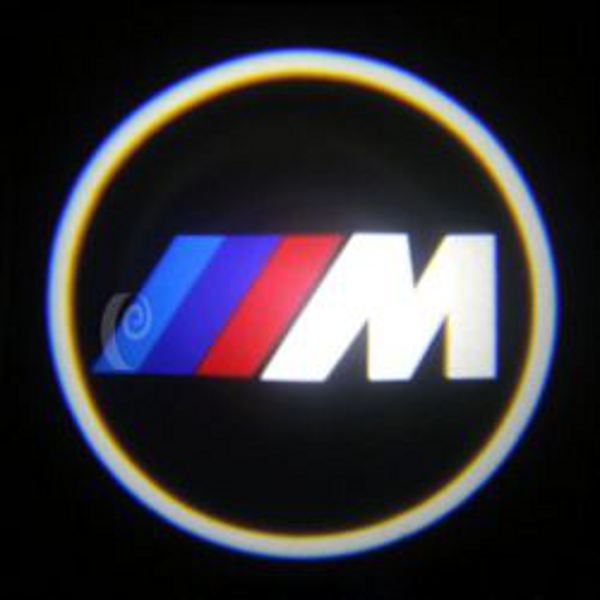 4 bmw m logo del projection lights door step courtesy. Black Bedroom Furniture Sets. Home Design Ideas
